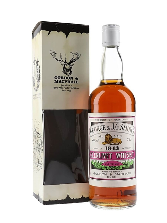 Glenlivet 1943 / Gordon & Macphail Speyside Single Malt Scotch Whisky