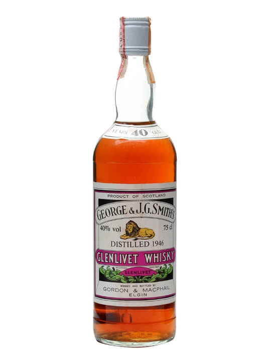 Glenlivet 1946 / 40 Year Old / 40% / 75cl Speyside Whisky