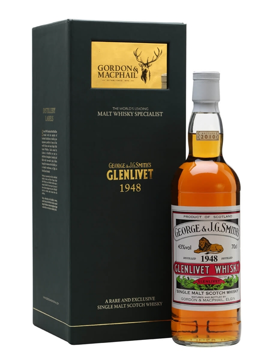 Glenlivet 1948 / Gordon & Macphail Speyside Single Malt Scotch Whisky