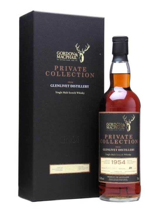 Glenlivet 1954 Private Collection/ 55 Year Old / Sherry Hogshead Speyside Whisky