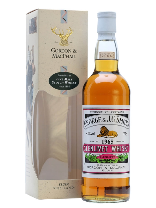 Glenlivet 1965 / Gordon & Macphail Speyside Single Malt Scotch Whisky