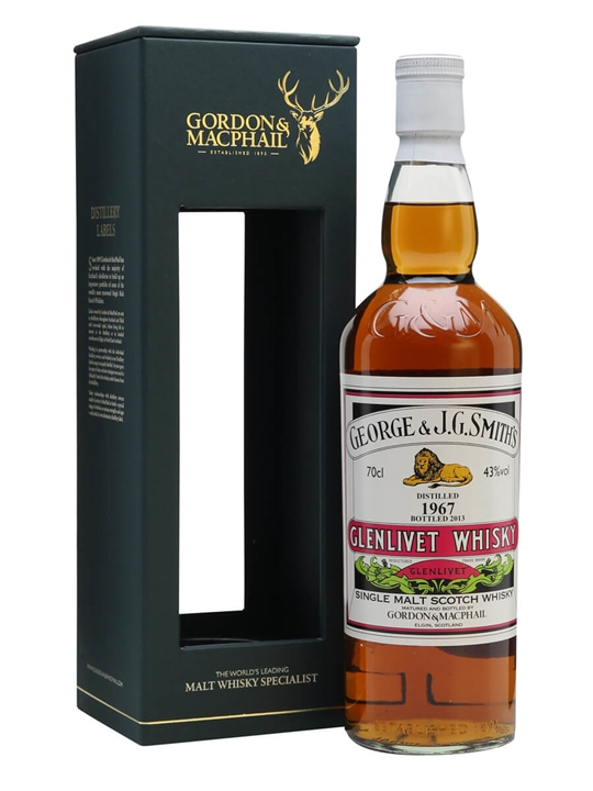 Glenlivet 1967 / Gordon & Macphail Speyside Single Malt Scotch Whisky
