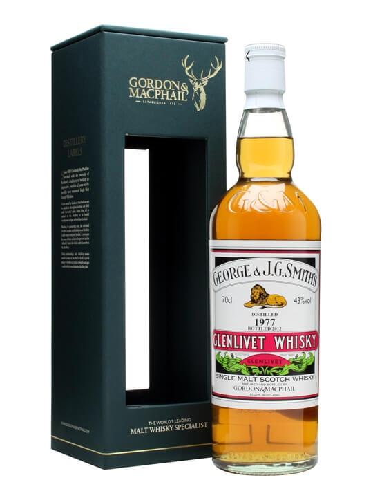Glenlivet 1977 / George & J.g. Smith / Gordon & Macphail Speyside Whisky