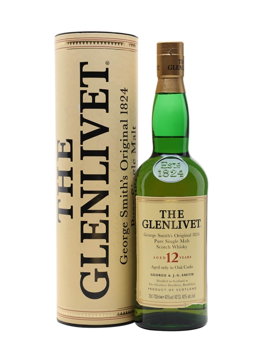 Glenlivet 12 Year Old / Old Presentation Speyside Whisky