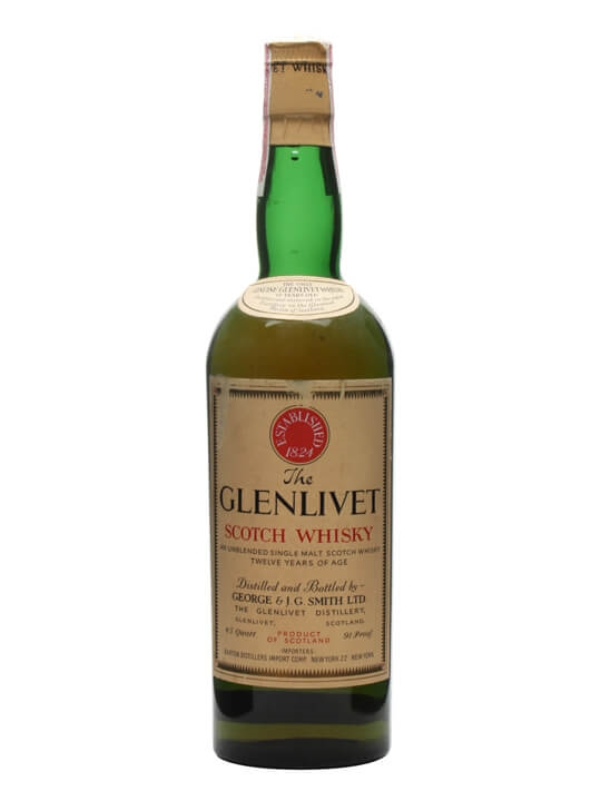 Glenlivet 12 Year Old / Bot.1960s Speyside Single Malt Scotch Whisky