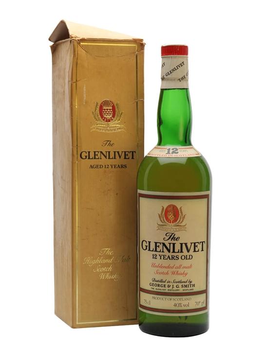 Glenlivet 12 Year Old / Bot.1970s Speyside Single Malt Scotch Whisky