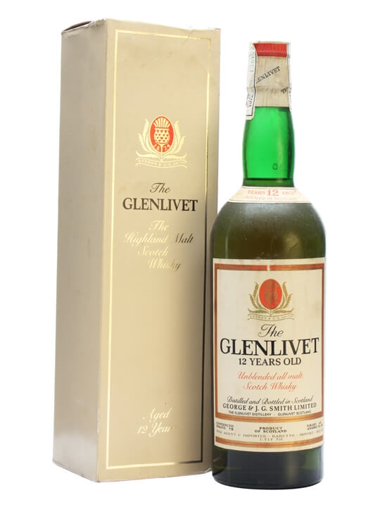 Glenlivet 12 Year Old / Bot.1973 Speyside Single Malt Scotch Whisky