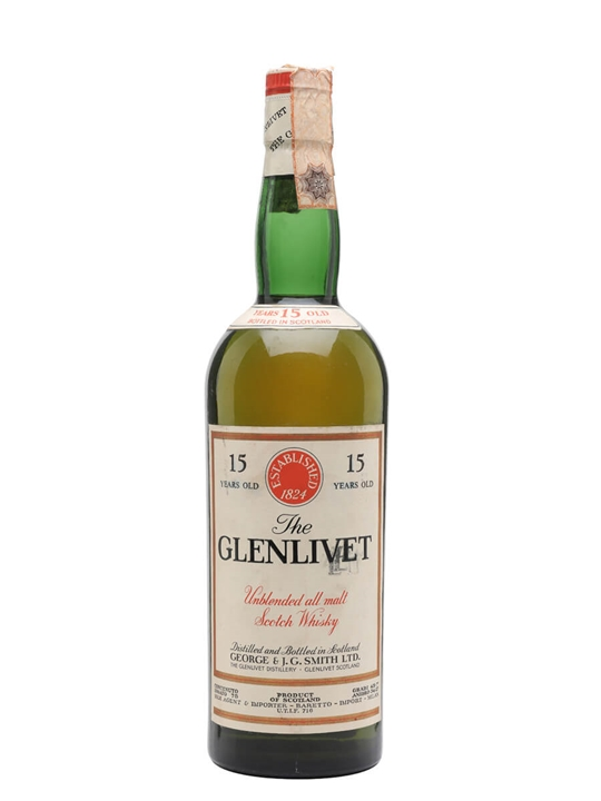 Glenlivet 15 Year Old / Bot.1960s Speyside Single Malt Scotch Whisky