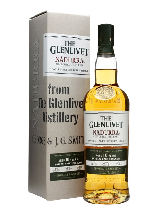 Glenlivet 16 Year Old Nadurra / Batch 0512t Speyside Whisky