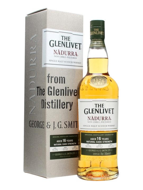 Glenlivet 16 Year Old Nadurra / Batch 0712u Speyside Whisky