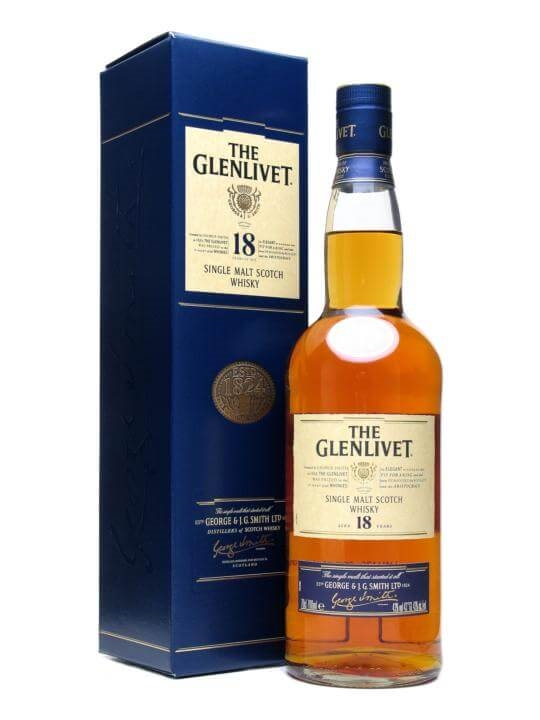 Glenlivet 18 Year Old / Old Presentation Speyside Whisky