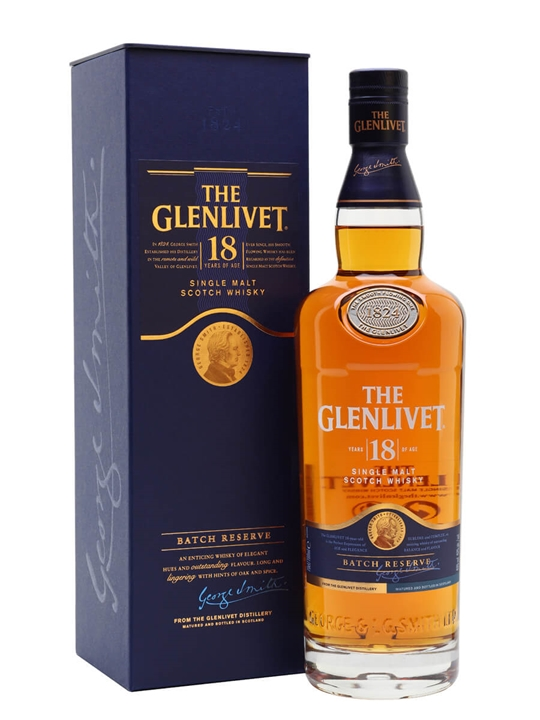 Glenlivet 18 Year Old Speyside Single Malt Scotch Whisky