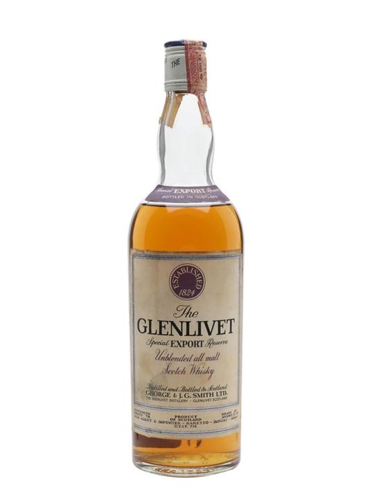 Glenlivet Special Export Reserve / Bot.1970s Speyside Whisky
