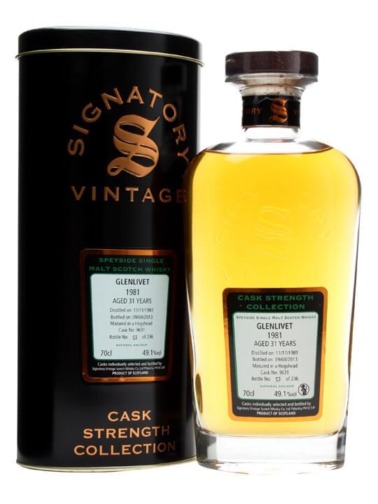 Glenlivet 1981 / 31 Year Old / Hogshead #9631 / Signatory Speyside Whisky