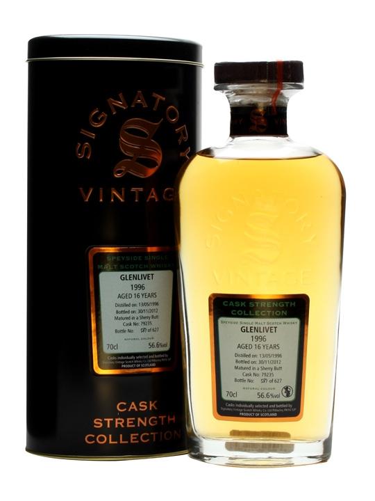 Glenlivet 1996 / 16 Year Old / Sherrybutt #79235 / Signatory Speyside Whisky