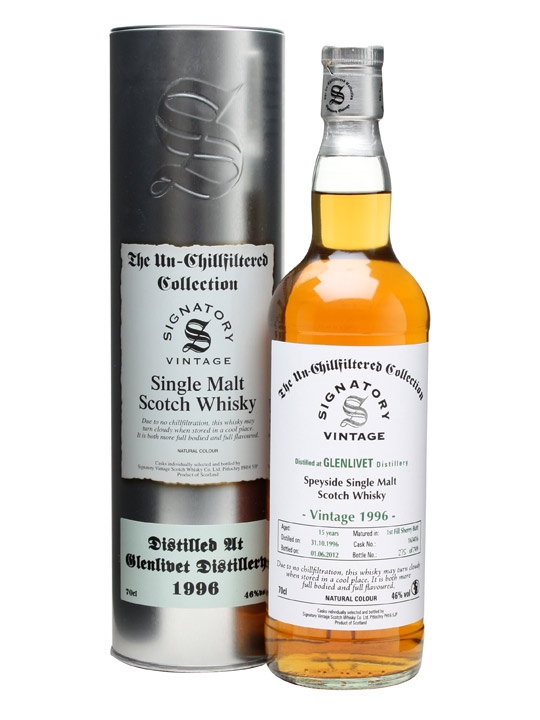 Glenlivet 1996 / 15 Year Old / Sherry Butt #163416 Speyside Whisky