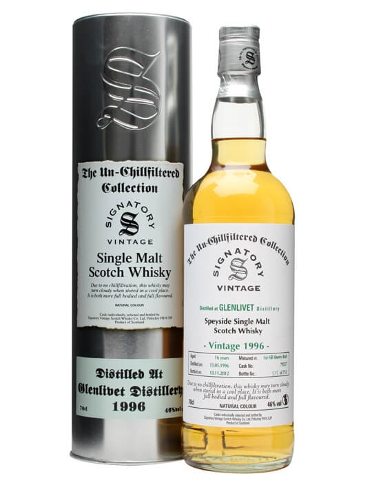 Glenlivet 1996 / 16 Year Old / Sherry Butt #79237 Speyside Whisky