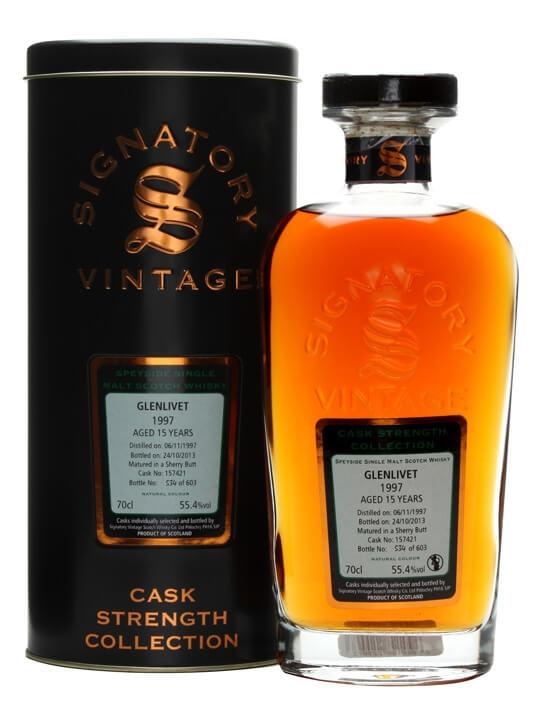 Glenlivet 1997 / 15 Year Old / Sherry Cask / Signatory Speyside Whisky