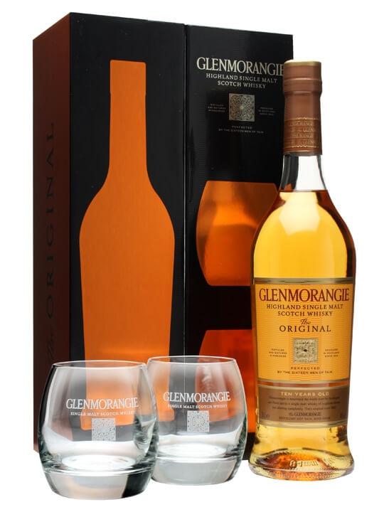 Glenmorangie 10 Year Old + 2 Tumblers / Gift Pack Highland Whisky