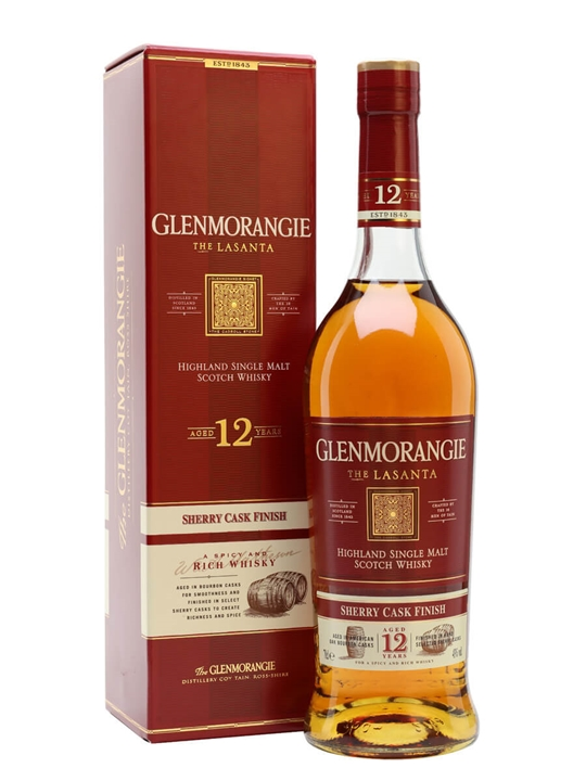 Glenmorangie Lasanta 12 Year Old / Sherry Finish Highland Whisky
