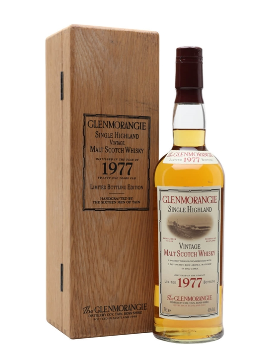 Glenmorangie 1977 Highland Single Malt Scotch Whisky