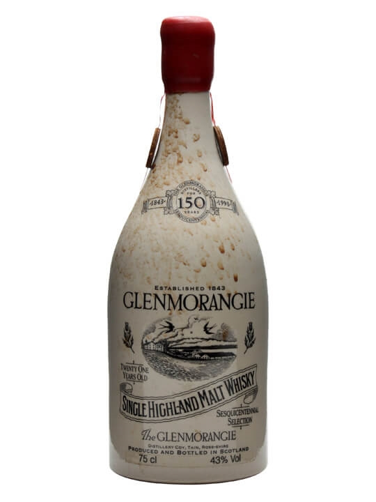 Glenmorangie Ceramic 21 Year Old / 150th Anniversary Highland Whisky