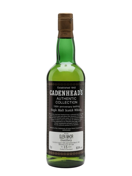 Glen Mhor 1976 / 15 Year Old / Cadenhead's Speyside Whisky