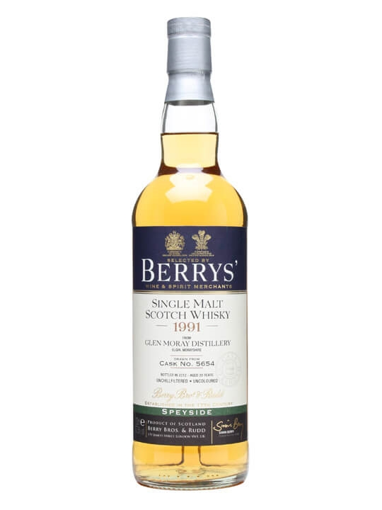 Glen Moray 1991 / 20 Year Old / Cask #5654 Speyside Whisky