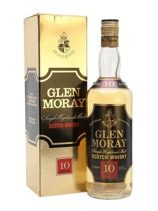 Glen Moray 10 Year Old / Bot.1970s / Black Label Speyside Whisky