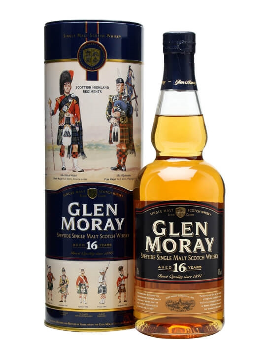 Glen Moray 16 Year Old Speyside Single Malt Scotch Whisky