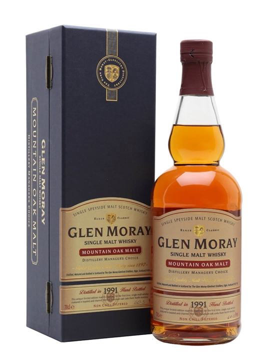 Glen Moray 1991 / Mountain Oak Malt Speyside Single Malt Scotch Whisky