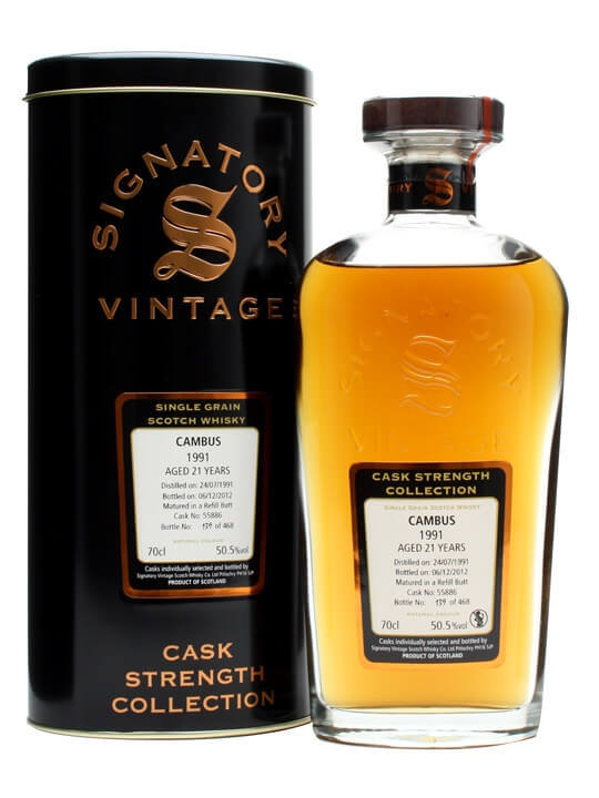 Cambus 1991 / 21 Year Old / Refill Butt #55886 Single Whisky