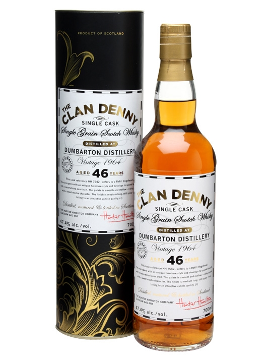 Dumbarton 1964 / 46 Year Old / Clan Denny Single Grain Scotch Whisky
