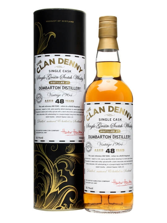 Dumbarton 1964 / 48 Year Old / Clan Denny #hh9345 Single Whisky