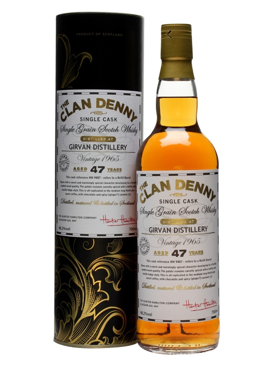 Girvan 1965 / 47 Year Old / Cask #9487 / Clan Denny Single Whisky