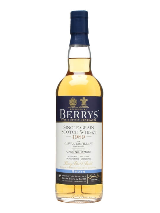 Girvan 1989 / 22 Year Old / Cask #37533 / Berry Bros & Rudd Single Whisky