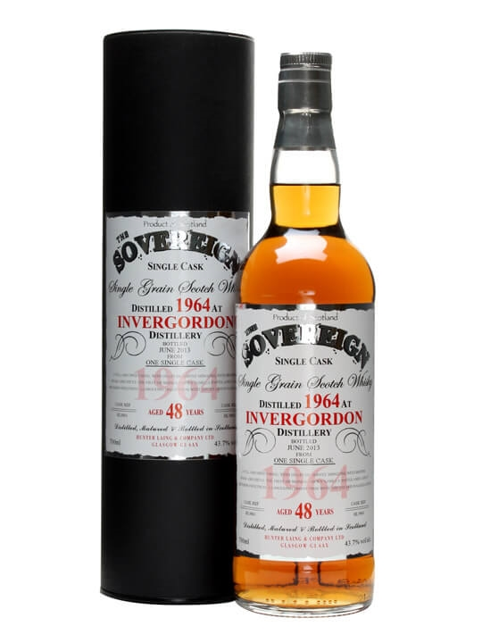 Invergordon 1964 / 48 Year Old / Sovereign Single Grain Scotch Whisky