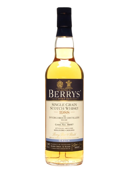Invergordon 1988 / 25 Year Old / Cask #8997 / Berry Bros Single Whisky