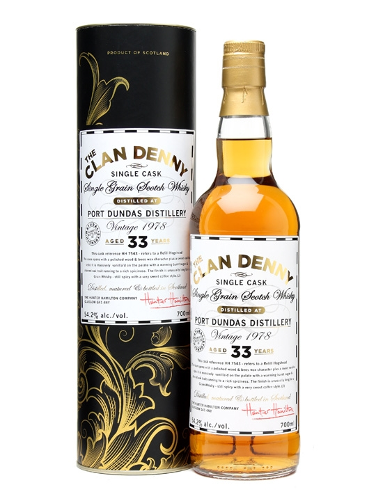 Port Dundas 1978 / 33 Year Old / Clan Denny Single Grain Scotch Whisky