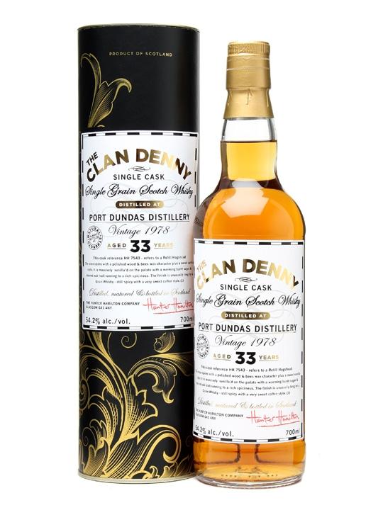Port Dundas 1978 / 33 Year Old / Clan Denny Single Grain Scotch Whisky
