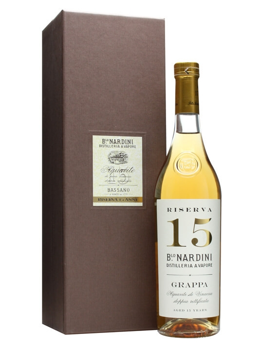 Nardini Grappa Riserva 15 Year Old / Small Bottle