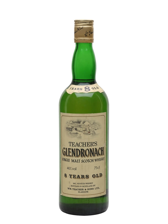 Glendronach 8 Year Old / Bot.1980s / Tall Bottle Speyside Whisky