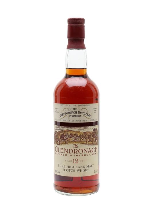 Glendronach 12 Year Old / Sherry Cask / Bot.1980s Speyside Whisky
