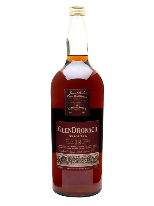 Glendronach 12 Year Old / Large Bottle Speyside Whisky