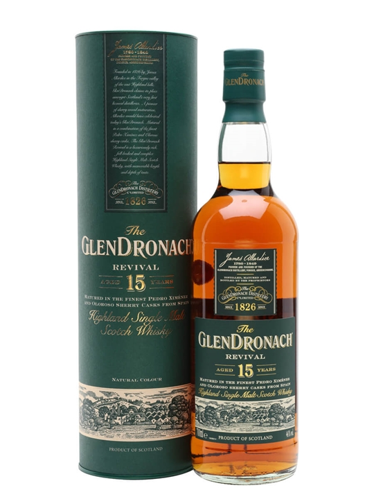 Glendronach 15 Year Old Revival / Sherry Cask Speyside Whisky