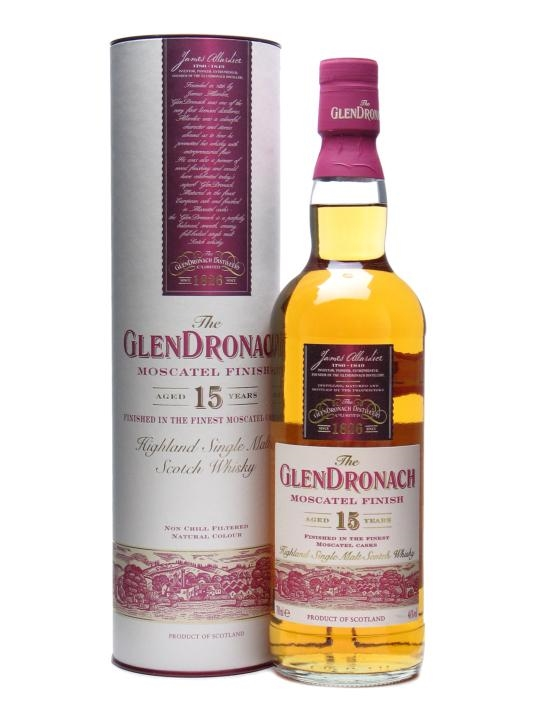 Glendronach 15 Year Old / Moscatel Finish Speyside Whisky