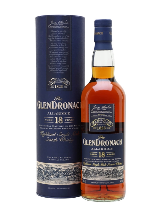 Glendronach 18 Year Old / Allardice / Sherry Cask Speyside Whisky