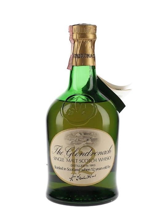 Glendronach 1963 / 12 Year Old Speyside Single Malt Scotch Whisky