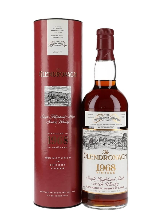 Glendronach 1968 / 25 Year Old / Sherry Cask Speyside Whisky