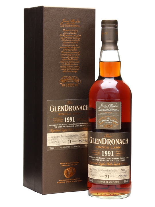 Glendronach 1991 / 21 Year Old / Px Puncheon #5409 Speyside Whisky